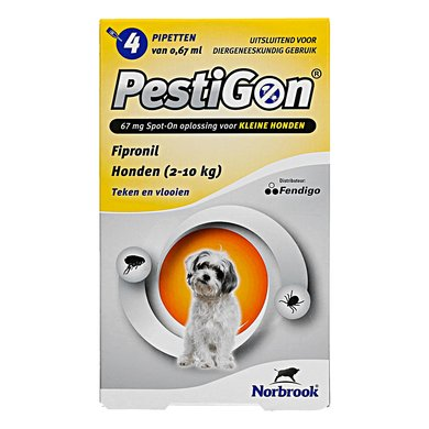 Pestigon Spot-on Hond S 2-10kg 4 Pipetten