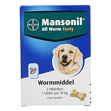 Mansonil All Worm Hond Flavour 2 Tabletten