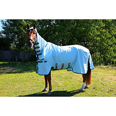 Bucas Sweet Itch Full Neck Fly Rug 6ft3 Silver Blue