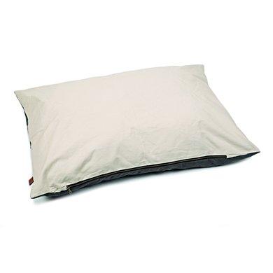 Designed by lotte loungekussen kibo beige grijs 100x70cm - Deco lounge grijs en beige ...