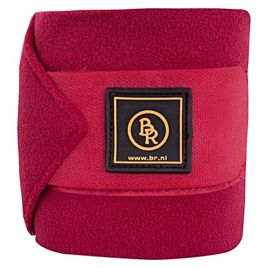 BR Bandages/polo Event fleece 3m set/luxe tas Beet Red