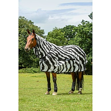 Bucas Buzz-Off Full Neck Zebra
