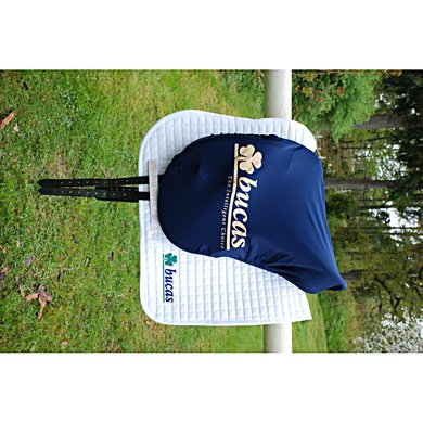 Bucas Saddle Cover Bucas Logo Silver