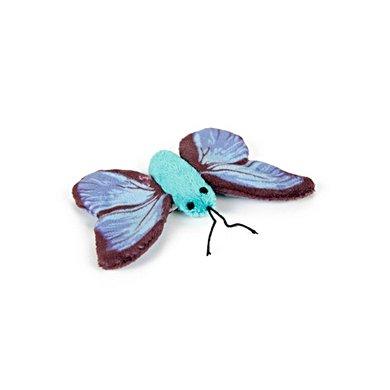 Beeztees Pluche Kattenspeeltje Vlinder Sparky Blauw 11cm