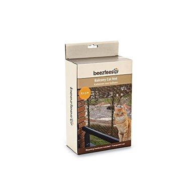 Beeztees Kattennet Voor Het Balkon Transparant 8x3m