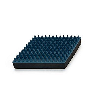 Beeztees Rubber Massageborstel Groot Blauw 15cm