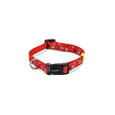 Beeztees Nylon Halsband Stars Rood 35-50cmx20mm