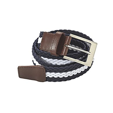 euro-star Unisex ES Plaited Belt Navy/white S