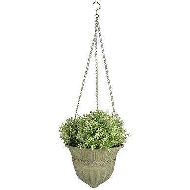 Esschert Aged Metal Green hanging basket
