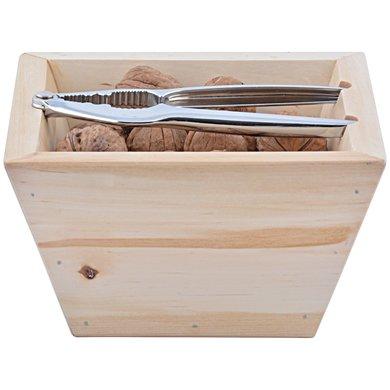 Esschert Houten bak met notenkraker 17,5x17,5x11,2cm