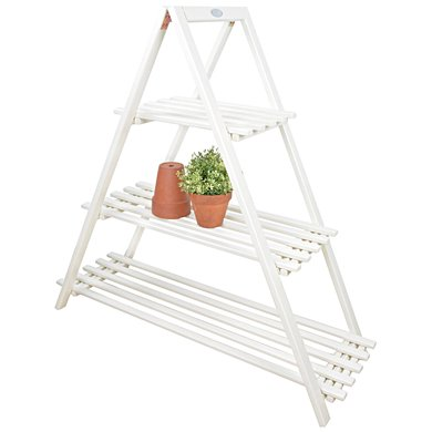 Esschert Plantenrek driehoek wit 110,5x38x107cm