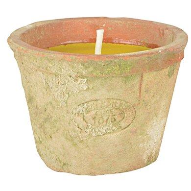 Esschert Citronella kaars aged teracotta 8,8x8,8x6,5cm