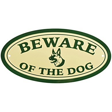 "Esschert Bord ""Beware of the dog"" 20,1x0,2x10,2cm"