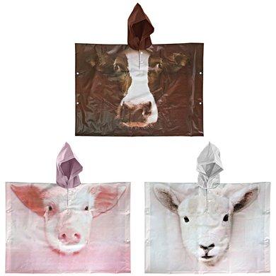 Esschert Kinderponcho boerderijdieren ass. 89x0,5x62cm