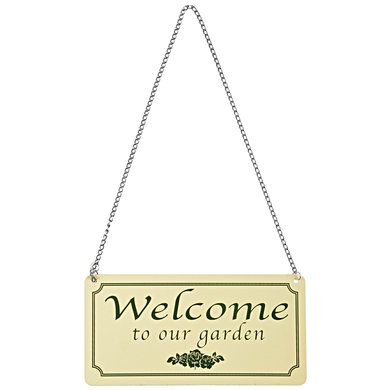 "Esschert Bord ""Welcome to our garden"" 18,1x0,1x9,2cm"