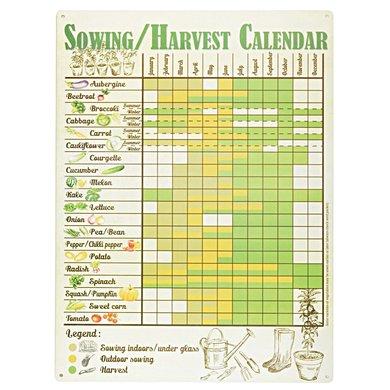 Esschert Sowing/harvest Calendar