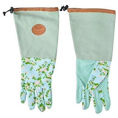 Esschert Roosprint/jute handschoen lang