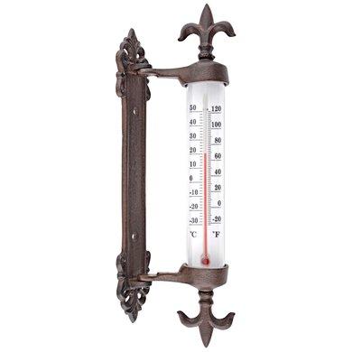 Esschert Kozijnthermometer gietijzer 5,5x9,4x29,5cm