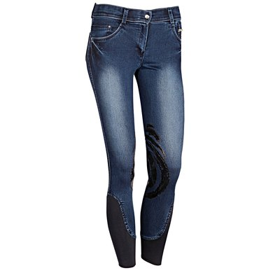 Harrys Horse Rijbroek Dirty Denim Blauw D38