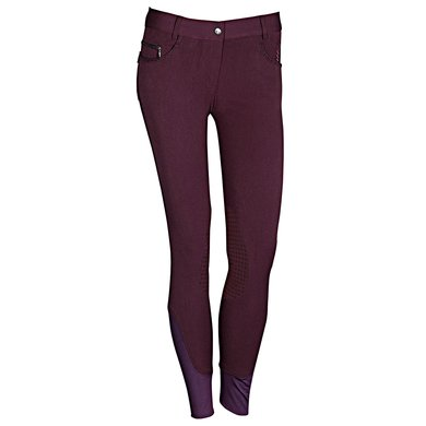 Harrys Horse Rijbroek Silicon Eastwood Prune Purple 152