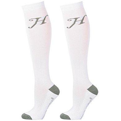 Harrys Horse Chaussettes Uni Blanc