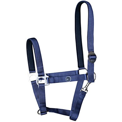Harrys Horse Halster Domy Suede Padded Navy Cob