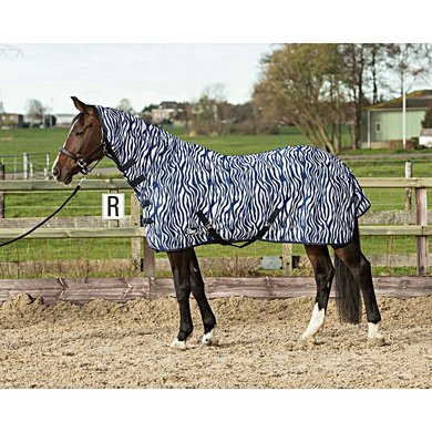 Harrys Horse Flysheet Mesh with Neck and Surcingles Zebra