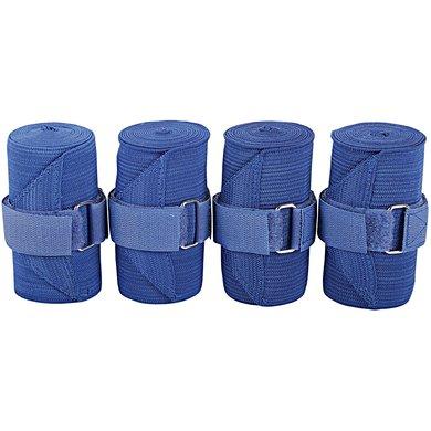Harrys Horse Bandages de Travail Élastique Bleu cobalt 4 Pièce
