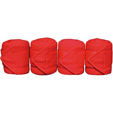 Harrys Horse Bandages Acrylique 4pc Rouge 3m 4 Pièce