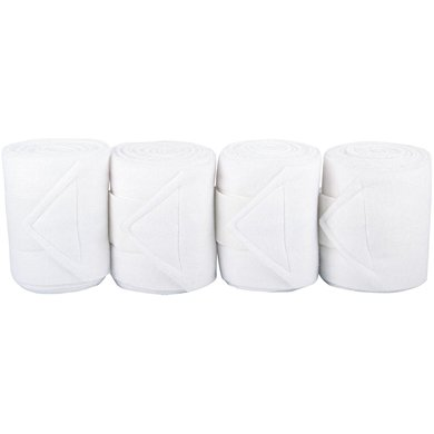 Harrys Horse Bandages Fleece 3m. 4 St. Wit