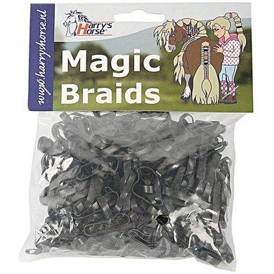 Harrys Horse Einflechtgummis Magic Braids Beutel Schwarz
