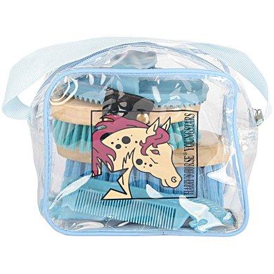 Harrys Horse Mini Grooming Kit Lichtblauw