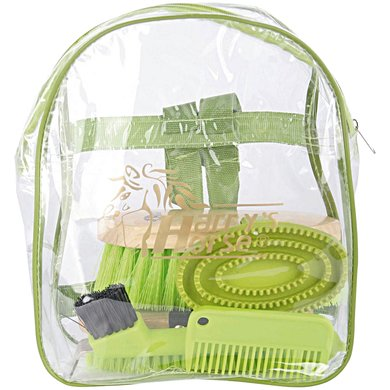 Harrys Horse Backpack Grooming Kit Groen