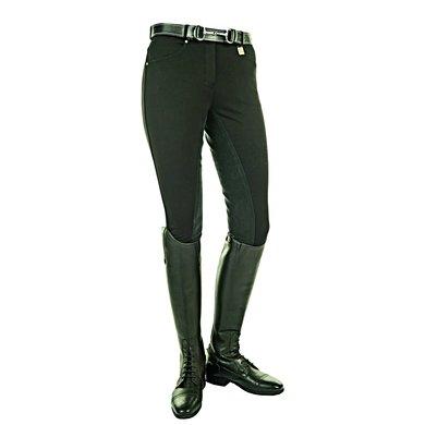 HKM Rijbroek Comfort Fit 3/4 Alos Zitvlak Zwart
