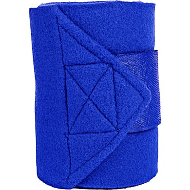 HKM Polar Fleece Bandages 4 Pcs Blue 200cm