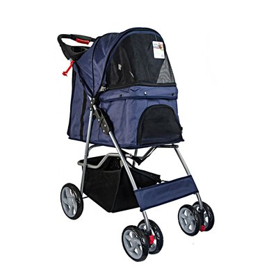 Pet Stroller With 4 Wheels-blue 68x46x100cm