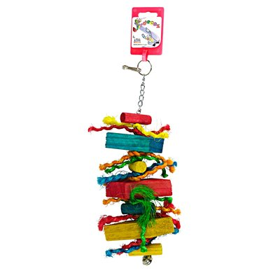 Birdeeez Parakeet Toy Wood Straight 26cm