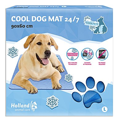 Coolpets Dog Mat 24/7 Blauw