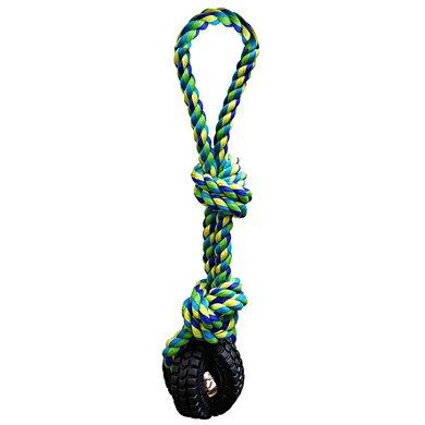 Pet Qwerks Jingle X-tire Ball Tug  Toss Small