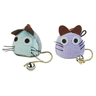 Crazy Cat Funny Mouse Vol Met Catnip Licht Blauw