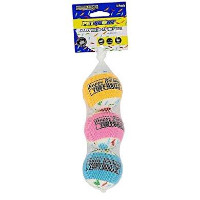 Tuff Birthday Balls Turbo 3-pk 6cm
