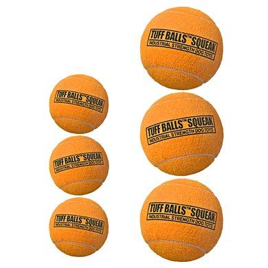 Tuff Balls Squeak 3-pack Oranje 4,5cm