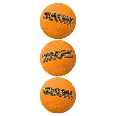 Tuff Balls Squeak Oranje 6cm 3-pack