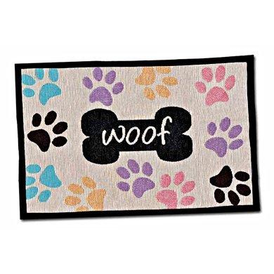Agradi Woof w/Multi paws Fashion Mat 48 x 31,5cm
