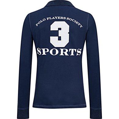 Hv Polo Poloshirt Favouritas Eq Ls Denim Melange Xxxl