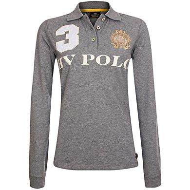 HV Polo Poloshirt Favouritas EQ LS Grey Melange 164