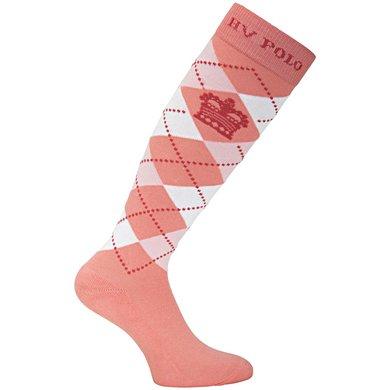HV Polo Sokken Argyle Coral Pink
