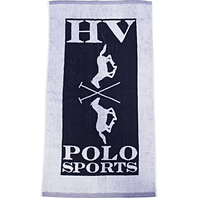 HV Polo Handtowel Logo Navy 85x48