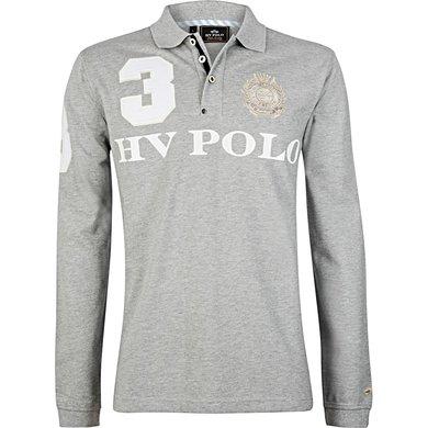 HV Polo Polo Favouritas M EQ LS Silvergrey Melange XXL