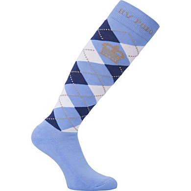HV Polo Socks Argyle Soft Blue-Ink Blue